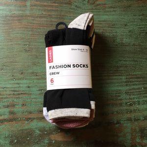 SEARS Fashion Crew Socks